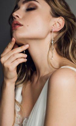 INESSA earrings White Jasmine Accessories 2
