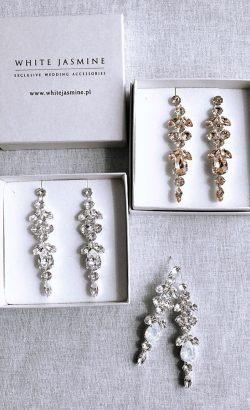 kolczyki ADELLE White Jasmine Accessories 3